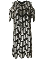 Givenchy Sequin Embellished Cocktail Dress Black