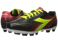 Diadora Mago R W Lpu Black Lime Red Men's Soccer Shoes