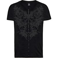 Raddar7 Scorpion Flower Graffiti Print Tee Black