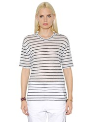 Etoile Isabel Marant Striped Cotton And Linen Blend T Shirt