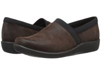 Clarks Sillian Blair Brown Synthetic Nubuck Women's Shoes