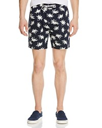 Barney Cools Sunday Palm Print Slim Fit Shorts Navy Floral