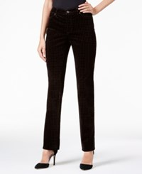 Charter Club Houndstooth Print Lexington Corduroy Straight Leg Pant Only At Macy's Rich Truffle