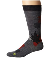 Smartwool Glacial Bay Camo Leaf Medium Gray Men's Crew Cut Socks Shoes White