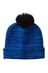 Hipster Accessories Knit Marbled Pom Beanie