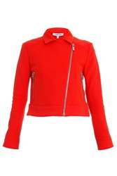 Elizabeth And James Plum Sweatshirt Biker Jacket