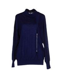 Who S Who Knitwear Turtlenecks Women Dark Blue