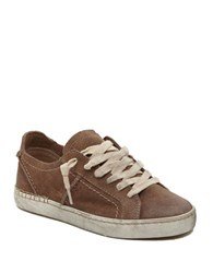 Dolce Vita Zalen Suede Lace Up Sneakers Taupe