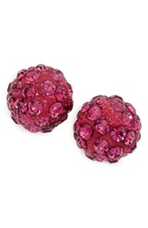 Cara Women's Crystal Stud Earrings Pink