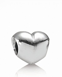 Pandora Design Pandora Charm Sterling Silver Big Smooth Heart Moments Collection