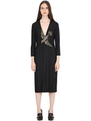 Gucci Bird Embellished Wool And Mohair Dress