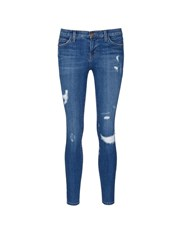 Current Elliott 'The Stiletto' Skinny Fit Distressed Jeans Blue