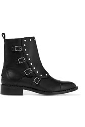 Jimmy Choo Baxter Studded Leather Boots Black