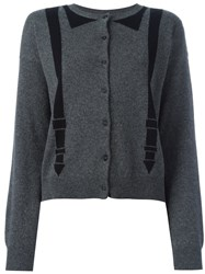 Chinti And Parker Braces Detail Cardigan Grey