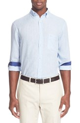 Men's Paul And Shark Regular Fit Linen Sport Shirt