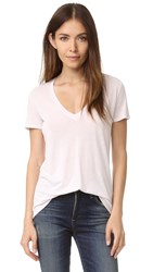 David Lerner Super Deep V Neck Tee Oyster