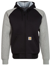 Carhartt Two Tone Carlux Hooded Jacket Tracksuit Top Black Grey Heather