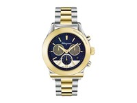 Salvatore Ferragamo 1898 Ffm11 0016 Two Tone Stainless Steel Yellow Gold Blue Watches
