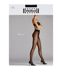 Wolford Milou Fishnet Tights Female Navy