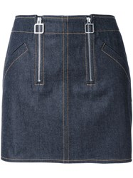 Courreges Double Zip Skirt Blue