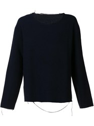 The Elder Statesman Crew Neck Jumper Black