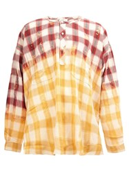 Faith Connexion Collarless Checked Shirt Red