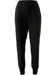 Stella Mccartney Tapered High Waisted Trousers Black