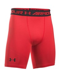 Under Armour Ua Heatgear Printed Compression Shorts Red