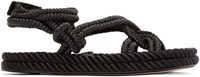 Isabel Marant Black Lou Twisted Rope Sandals