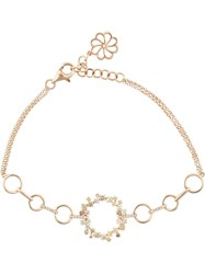 Kristin Hanson Loop Diamond Chain Bracelet Pink And Purple