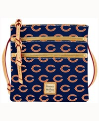 Dooney And Bourke Chicago Bears Triple Zip Crossbody Bag Navy