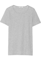 Current Elliott The Fitted Tee Cotton Jersey T Shirt Gray