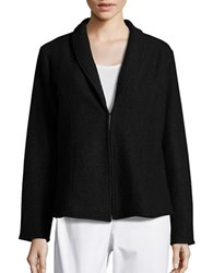Nipon Boutique Wool Shawl Collar Cardigan Black