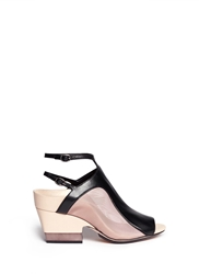 3.1 Phillip Lim ''Aria' Mesh Leather Chunky Combo Heel Sandals