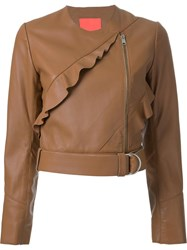 Manning Cartell Frill Detail Jacket Brown