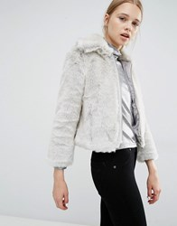 Cheap Monday Faux Fur Shrunken Fit Jacket Grey