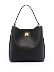 Mcm Milla Leather Hobo Bag Black