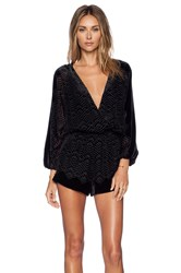 Twelfth St. By Cynthia Vincent Long Sleeve Romper Black