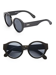 Minkpink 50Mm Round Sunglasses Black