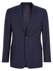 Aquascutum London Swift Wool Silk Slim Fit Suit Blue