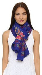 Theodora And Callum Caravan Scarf Blue Multi