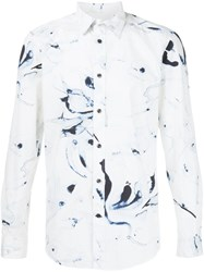 Diesel Abstract Print Shirt White