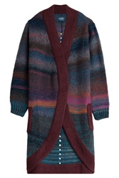 Zadig And Voltaire Striped Cardigan With Wool Multicolor