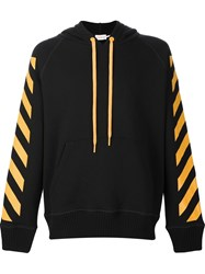 Moncler X Off White Signature Stripe Hoodie Black