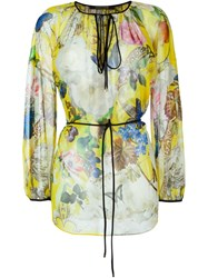 Roberto Cavalli Printed Silk Blouse Multicolour