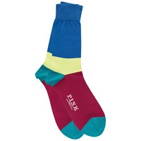 Thomas Pink Rydall Block Stripe Socks Royal Pink