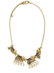 Christian Dior Vintage Pegasus Necklace Metallic