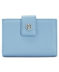 Giani Bernini Wallet Softy Leather Wallet Chambray