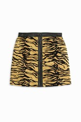 Adam By Adam Lippes Tiger Mini Skirt Multi