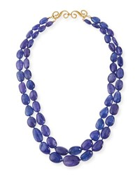 Splendid Company Two Strand Smooth Tanzanite Necklace